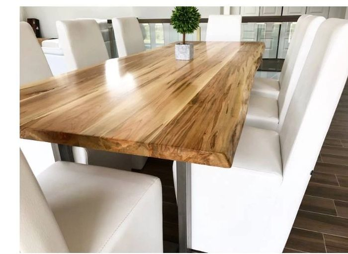 Live edge dining table.  Rustic Maple.