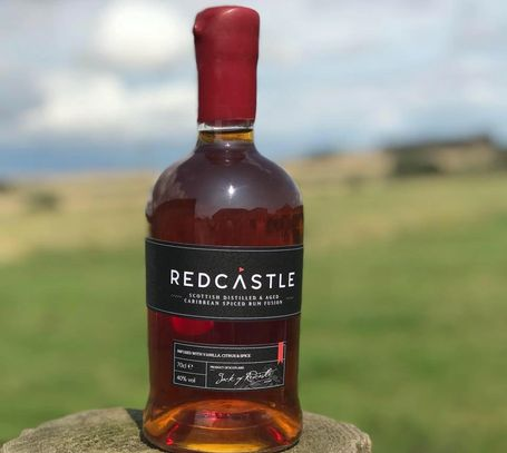 Redcastle Rum, Distilled in Arbroath and blended with Aged Jamaican rum