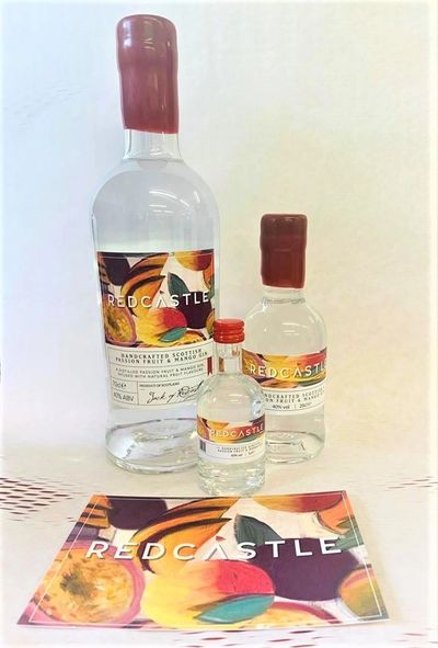 Redcastle Gins Full range of Redcastle Passion fruit and Mango full strength gins. Arbroath Gin