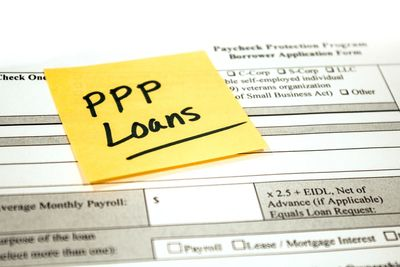 Loan papers labeled PPP loans.