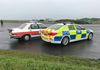 Side view of the BMW E28 and G30 showing the evolution of police markings