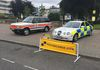 The GMP P38 and the Jaguar S Type ready and waiting for the visitors to the show.