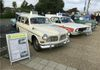Two Hampshire Constabulary old timers the Volvo 121 Amazon Break and the Newport based Ford Cortina MkII Lotus.