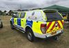 The rear of the Sussex Police Ford Ranger showing the Truckman pickup hardtop cover.