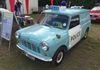 Always an attraction at shows this lovely North Wales Police Mini Car derived van.
