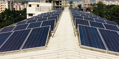 solar mounting structure, solar panel mounting structure