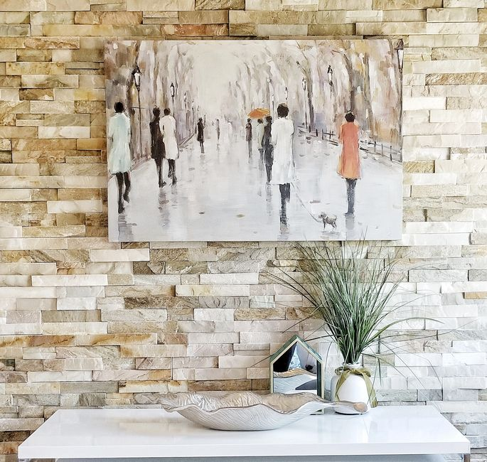 brick wall feature wall installed by Design Market
