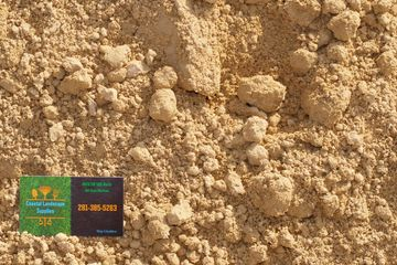 Select Sand 60/40 with Coastal Landscape Supplies business card in the corner.