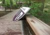 This photo shows a custom bracket I designed to allow interpretive graphics to be placed anywhere along the guardrail of an outdoor boardwalk.