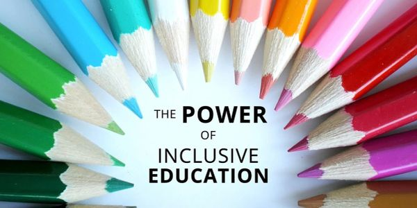 Multicolor pencils surround words that read The power of Inclusive Education