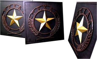 Texas Star Puzzle with removable star points.