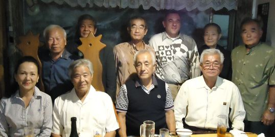 RH Gutierrez with his instructors and Iha Sensei at a dinner