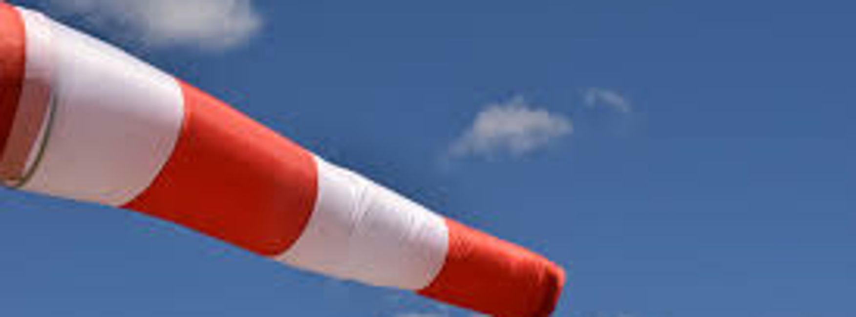 Licenced windsock flying at airport