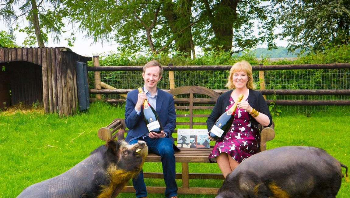 BEW Prize winners Hannah Rothschild & Paul Murray. * Picture courtesy of Bollinger Co. Twitter feed.