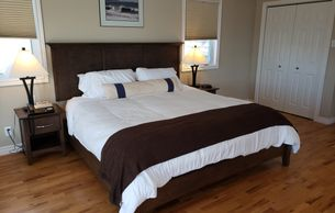Residential king suite with king size bed at an addiction treatment center
