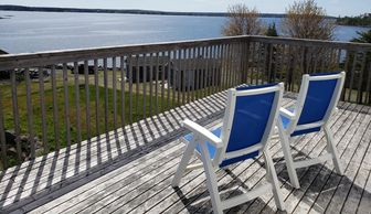 Private balcony view of the ocean at a treatment center just outside of Halifax Nova Scotia