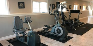 Private gym at terradyne wellness addiction treatment center just outside of Halifax Nova Scotia