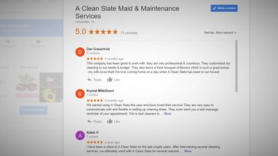 Top rated cleaning service