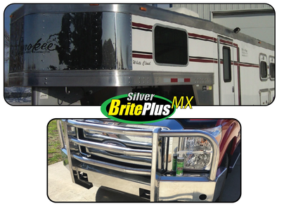 BEFORE & AFTER Silver Brite Plus MX Polished Aluminum and Stainless Steel Cleaner