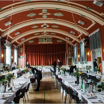 wedding reception venue burns supper, charity fundraiser