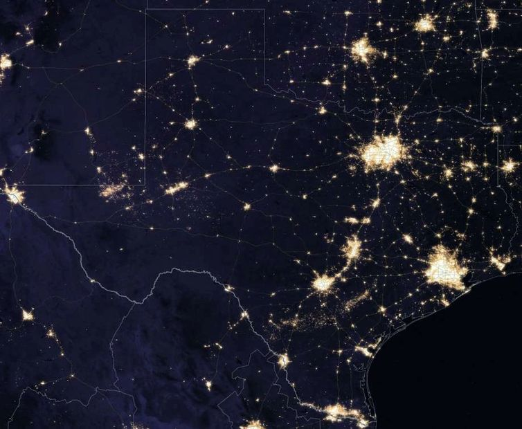 Texas satellite image - NASA