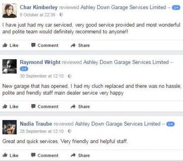 Testimonials Ashley Down Garage Services