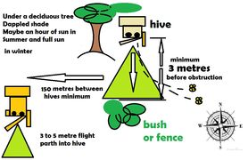 Location diagram for a Gardeners Beehive