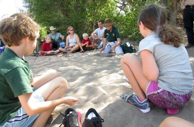 Listening to the Park Ranger at Great Sand Dunes National Park and Preserve (2013).