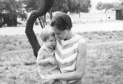 Mama & me.  Inks Lake State Park, Texas (1969).