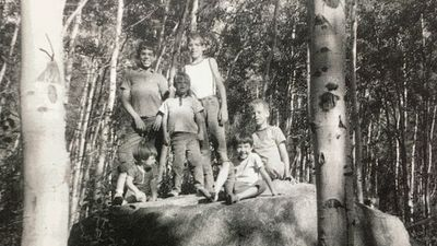Hiking with my family in the early 1970s.