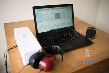 mi EARS diagnostic hearing test using a PC based Audiometer.