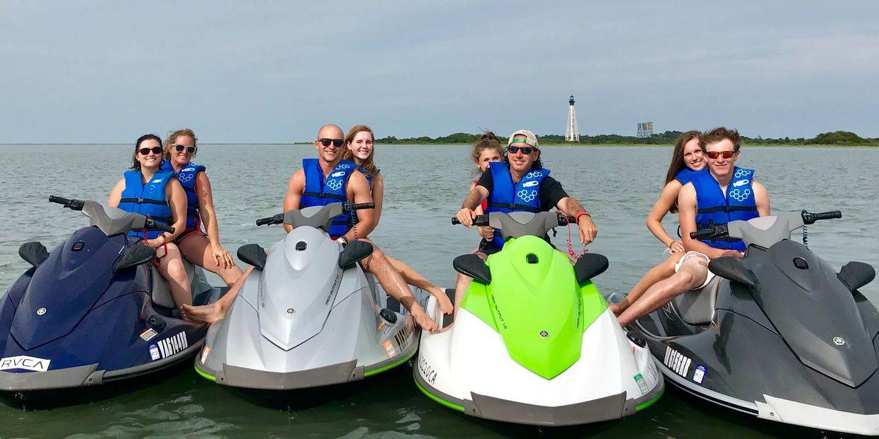 Poseidon Watersports jet ski rentals and jet ski tours near Virginia Beach and Cape Charles Virginia