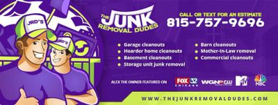 Lake In The Hills, Illinois Junk Removal Service. The Junk Removal Dudes. 815-757-9696