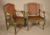 We stained the new seats to blend with the old cane color. A beautiful pair of chairs.