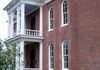 This was one of the last Antebellum Houses built. We turned many of these large balusters at the entry
