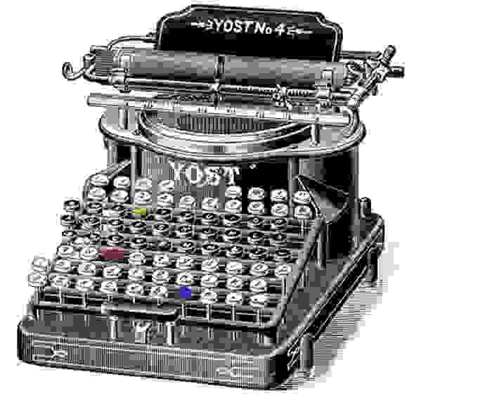 Old Yost typewriter (image courtesy of The Old Design Shop)