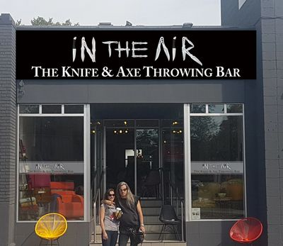 In The Air Knife and Axe Throwing Bar on Bank Street Date Night Idea