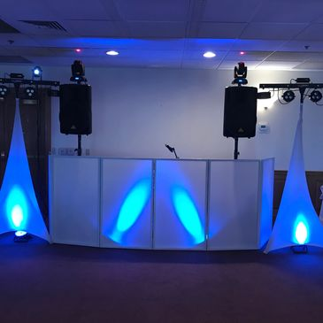 DJ Set up with lighting