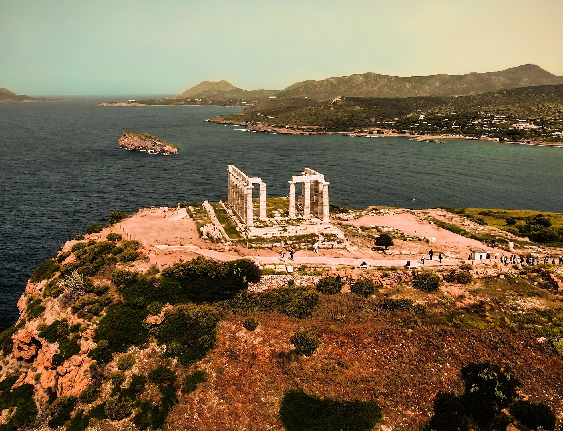 Yoga Pathway to Ancient Greece Group Retreat Day 5 Sounion: Yoga at the beach and Sunset Ceremony