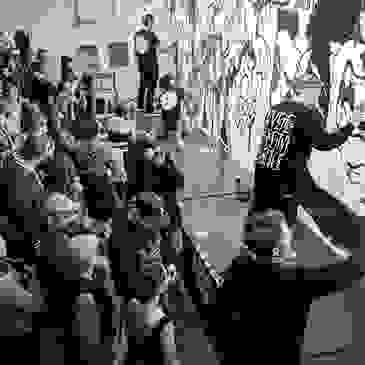Secret Walls LA live illustration battle image used as thumbnail link to murals web page