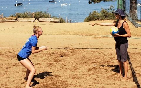 Private volleyball lessons in Truckee, Lake Tahoe, and Monterey, California
