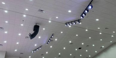 Lightronics LED theatrical and house lighting system in the new auditorium.