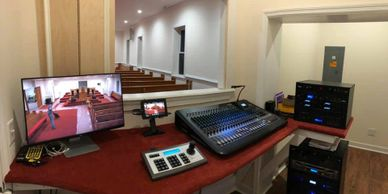 New audio and video system upgrade in the sanctuary.