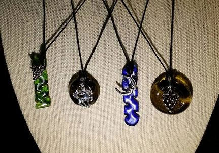 Pendent Necklaces Recycled Glass
