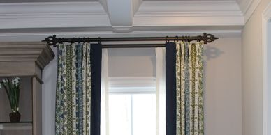 custom drapery, window treatments, Hunter Douglas Blinds,  drapery panels, valances, shades,shutters