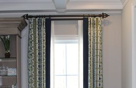 custom drapery, window treatments