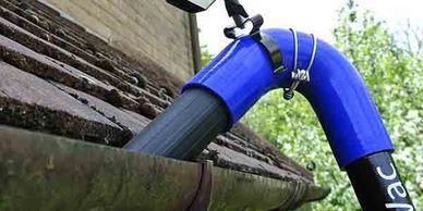 Gutter cleaning using the ClearFlow system.