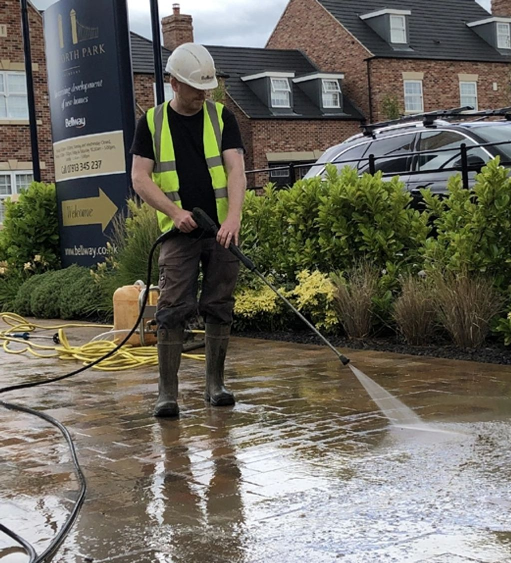 Cleaning the show houses at a Bellway Homes site in Yorkshire