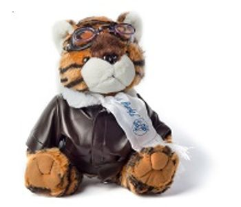Flying Tiger teddy bear with googles for pilots and aviation enthusiast