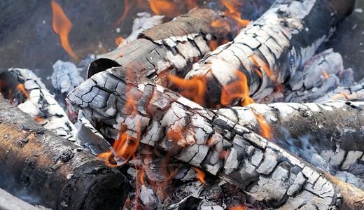 Wood Embers for Smoked Fish